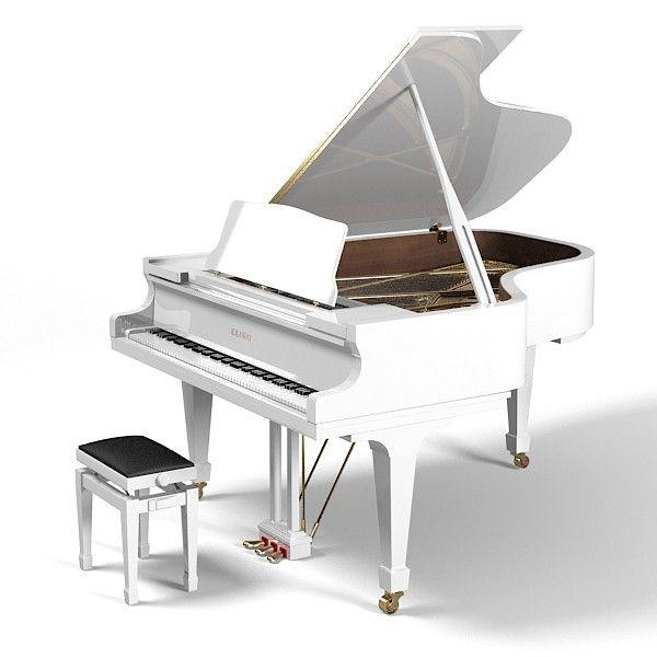 white grand piano - Google Search