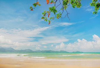 Tropical beach seascape beautiful on nature at Trad,Thailand