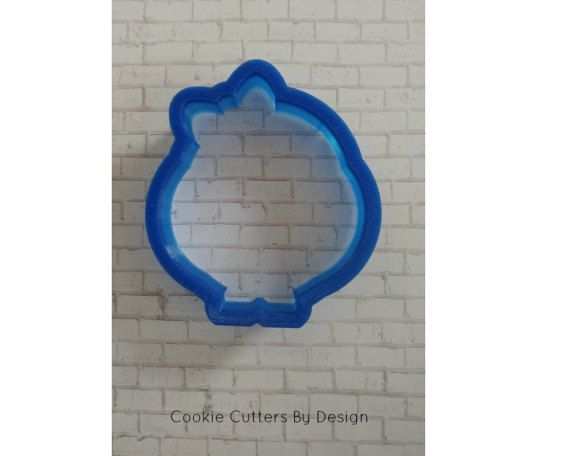 Chick with Bow Cookie Cutter by CookieCuttersByDsgn on Etsy