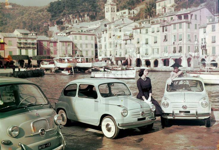 1957. Fiat 600 Berlina, Multipla and Trasformabile in Portofino