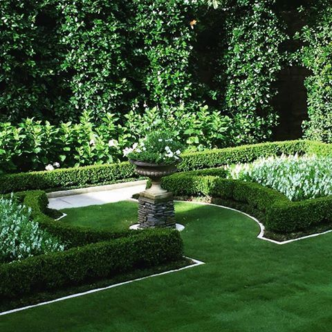 parterre in a formal garden by howard design studio