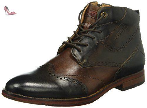811244011100, Chaussures Derby Homme - Marron - Marron (Cognac 6300), 44 EUDaniel Hechter