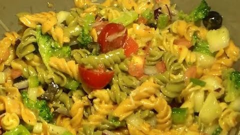 Italian Dressing Pasta Salad Recipe: How To Make Italian Pasta Salad -- Watch Philly Boy Jay Cooking Show create this delicious recipe at http://myrecipepicks.com/28631/PhillyBoyJayCookingShow/italian-dressing-pasta-salad-recipe-how-to-make-italian-pasta-salad/