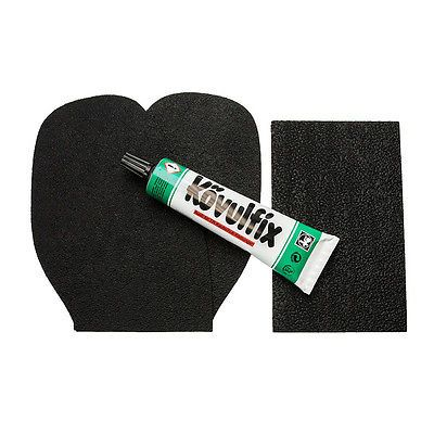 Schuhsohlen und Schuhabsatz Schuh Reparaturset Speckgummi dunkel + Kövulfix