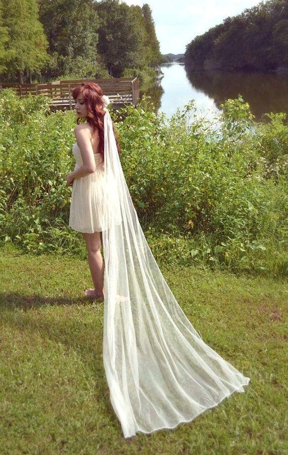 116 best short dress long veil images on pinterest for Long veils for wedding dresses