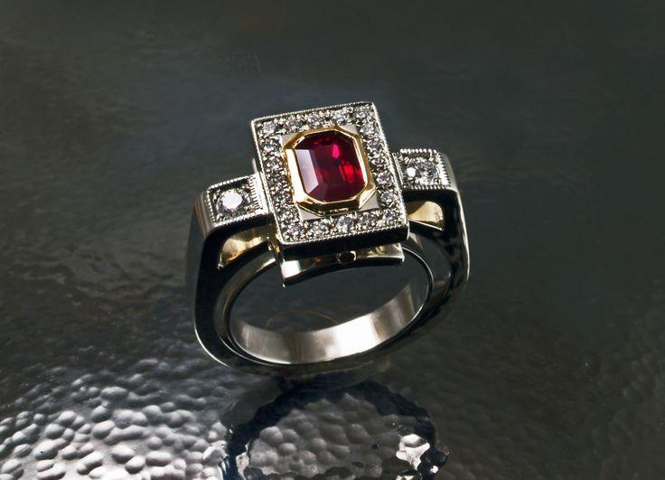 Beautiful hand crafted ring by David Keeling Fine Jewellery in Edmonton, Alberta.