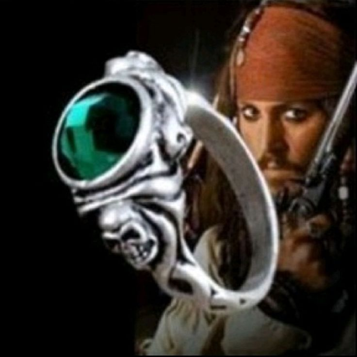 Пираты карибского моря кольца капитан джек воробей кольца смерти зябликах череп кольцо антикварный джонни депп