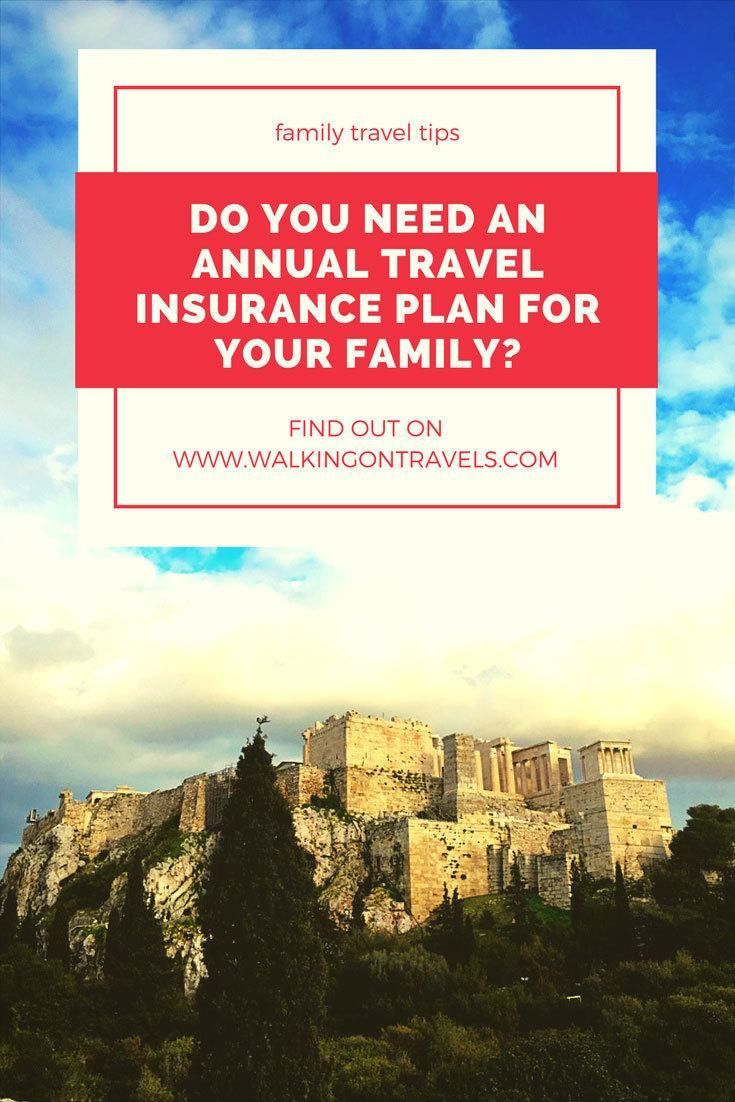 Do you need an annual travel insurance plan for your family or will you risk travel disaster the next time you go on a family vacation? Find out who needs an annual multi trip insurance plan and how many trips it takes to make it worth the expense. Your family travel and family vacations will thank you for it later #travelinsurance #familytravel #traveltips