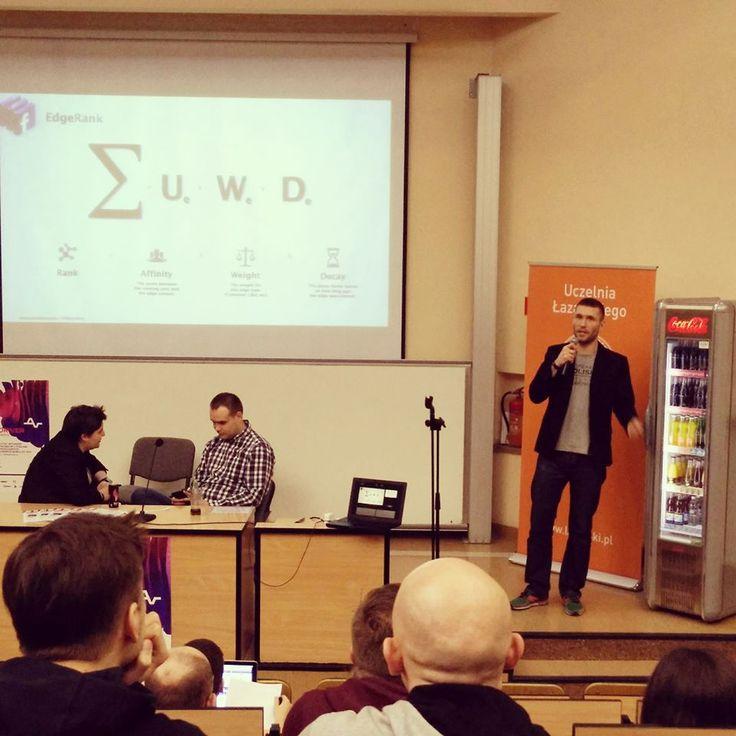 Łukasz mówi o możliwości promocji imprezy muzycznej za pomocą Facebooka na V Konferencji #audioriver.