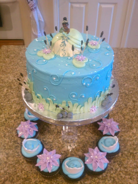 Princess And The Frog Cake And Cupcakes My Cakes