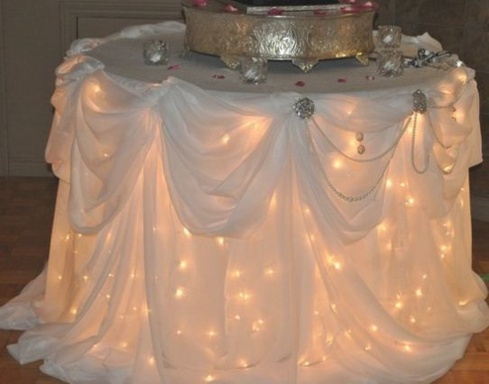 change it up a bit.. but it could be cool.. just wash the sheet after the party.. don't worry about scrubbing dried crap off your table.. :)