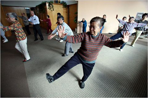 Tai chi eases depression in the elderly.