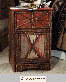 """Southwestern """"Lil Papoose"""" Nightstand with rustic flair."""