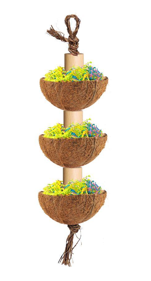 Coconut foraging toy idea
