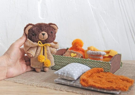 Set of Clothing Dress up Clothes for Toy Toy Teddy Bear