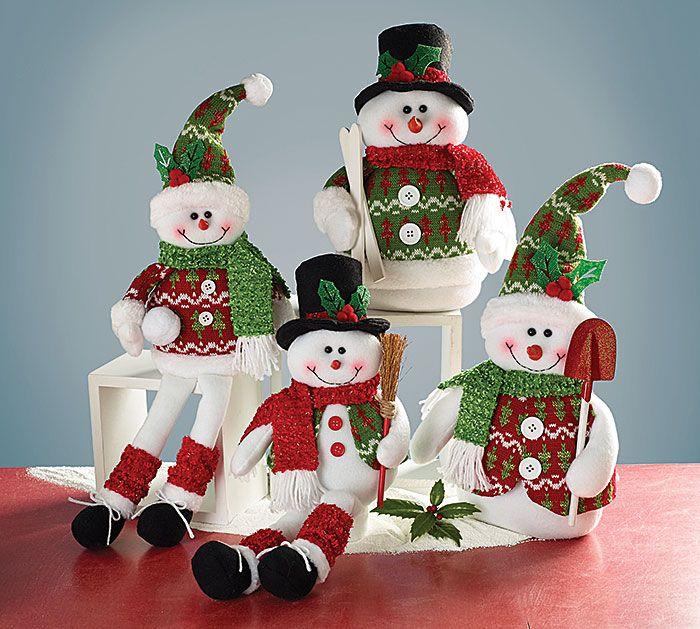#burtonandburton Plush snowmen assortment of shelf sitters and without feet…
