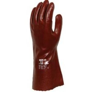 Guantes Basic 27 - Gran resistencia a abrasión. Acabado liso brillante.  Pvc sobre soporte de algodón.  http://www.janfer.com/es/riesgos-quimicos/972-guantes-basic-27.html