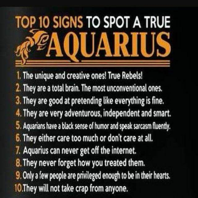 Mostly me, except for #3–if something's wrong, you're gonna know about it, but …
