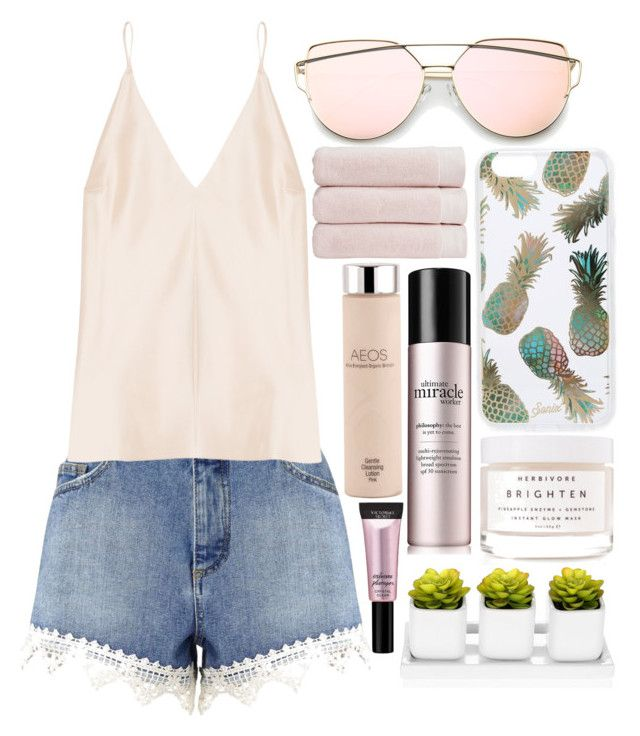 Beach Chic by aquabanana on Polyvore featuring polyvore, fashion, style, Juan Carlos Obando, Miss Selfridge, Sonix, Herbivore, Beauty Rush, philosophy, Christy and clothing