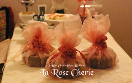 La Rose Cherie(ラ・ローズ・シェリー) デコレーション教室-バレンタイン特別講座 ガトーショコラのラッピング