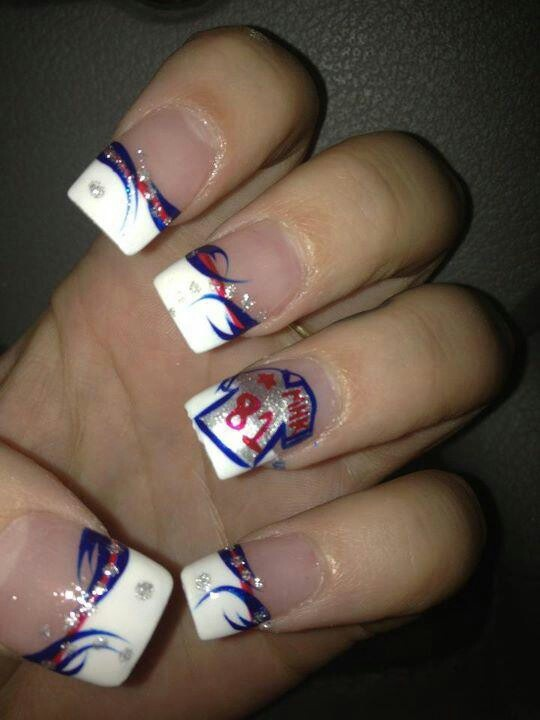 Patriots nails! | A Twist on French Tips | Pinterest ...