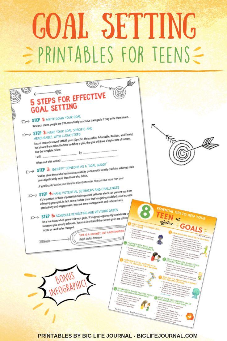 How to Help Teens Set Effective Goals (Tips & Templates