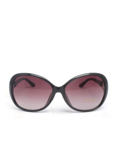 Oversized Metal Detail Round Sunglasses
