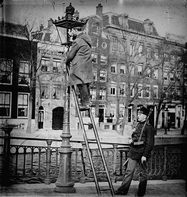 Lantaarnopsteker 1903 Prinsengracht