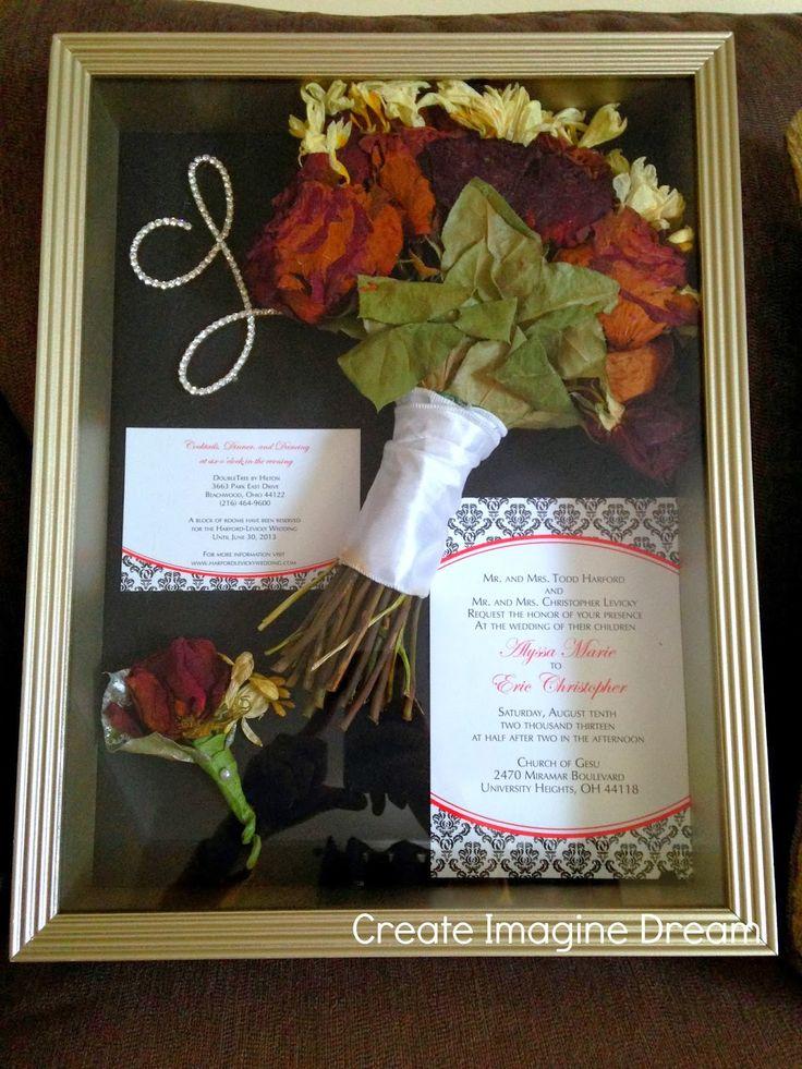 Cheap DIY wedding shadowbox! & Best 25+ Bouquet shadow box ideas on Pinterest | Preserve bouquet ... Aboutintivar.Com