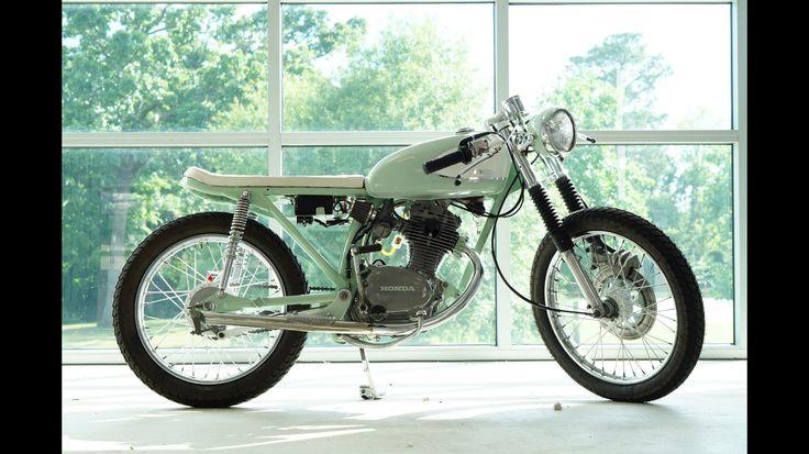 1974 Honda cb125 custom built by Jenny Lawson and JMS customs. Mint motorcycle