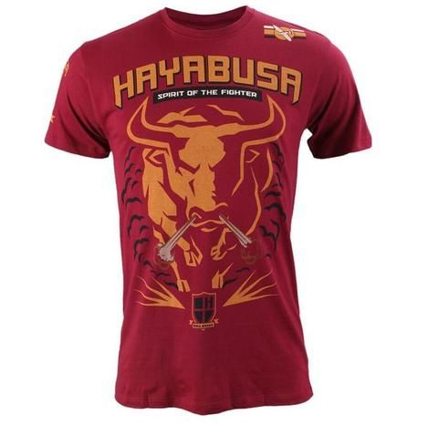 Men's MMA T-Shirts - Tauren Battle Raging Bull Red or Black