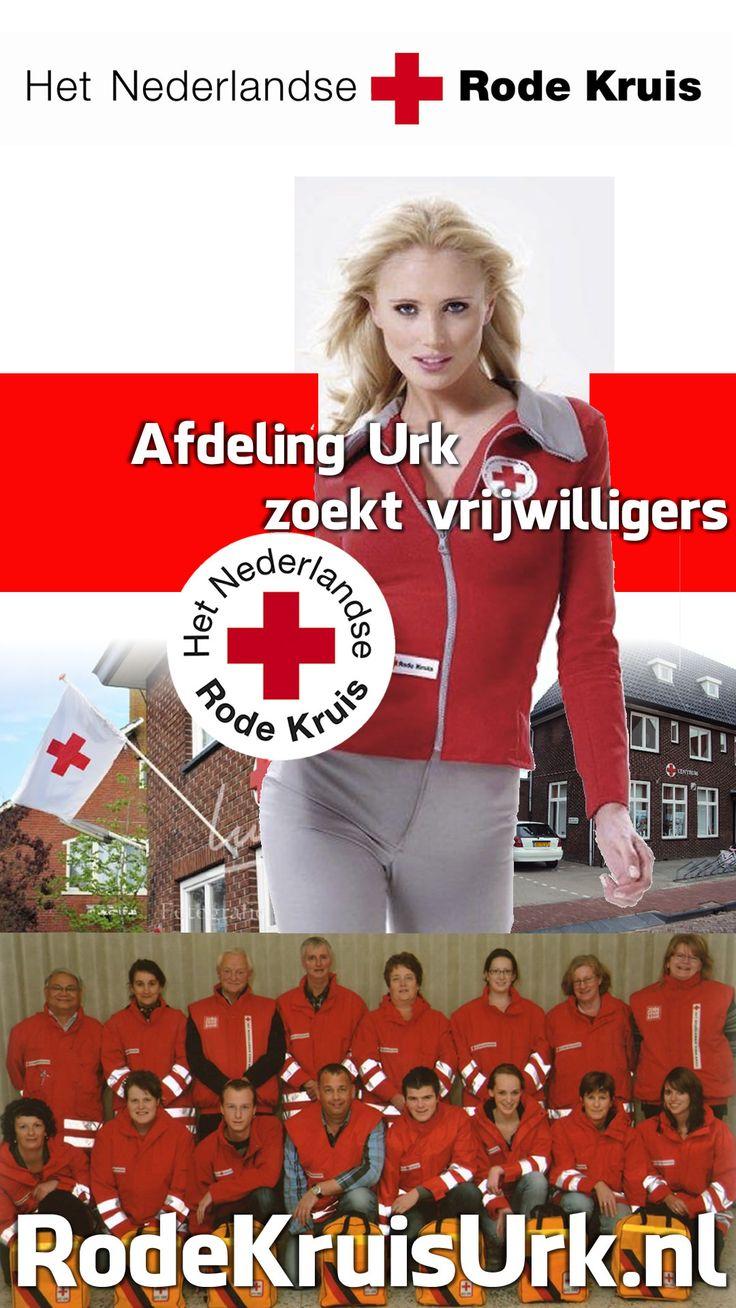 Rode Kruis Afdeling Urk zoekt vrijwilligers. Meld je aan via onze website