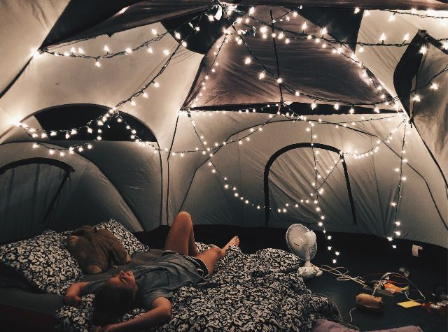 Vsco Tent Night Lights Stringlights