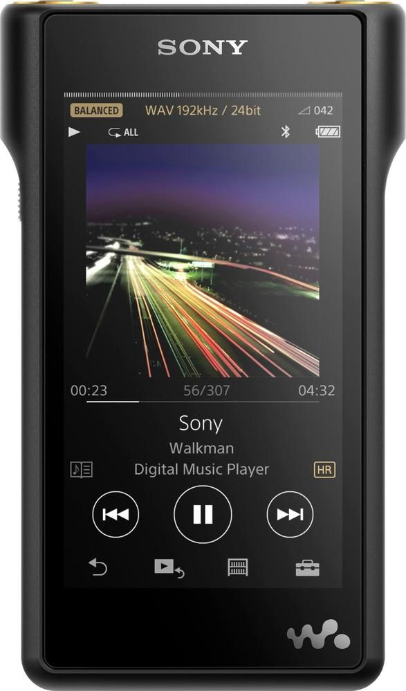 sony high resolution walkman nw wm1a hi res 128gb mp3 player black in 2019 products