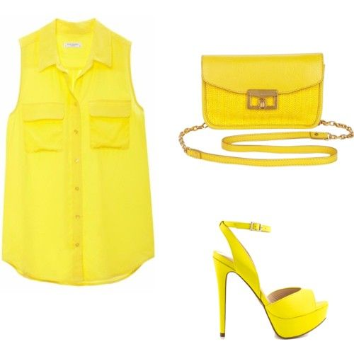 round yellow♡ by adilaanindya on Polyvore featuring polyvore fashion style Equipment ALDO MARC BY MARC JACOBS