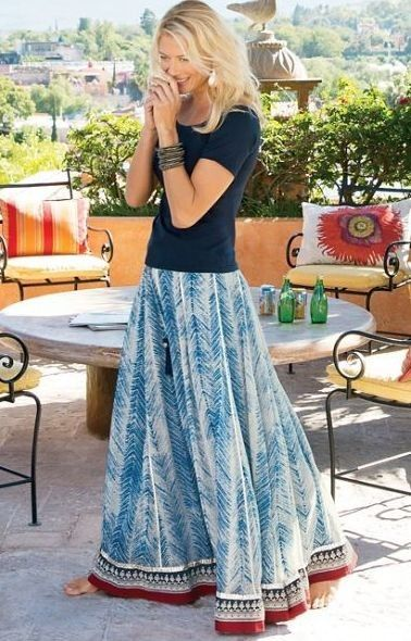 Gypsy Style | silky georgette makes our zagara skirt a festive style with a stunning print and vibrant colorful 987