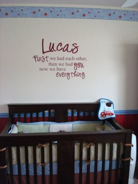 """""""George All You Need is Love. Looks like you have everything."""" Custom Personalized Nursery Room Wall Quote Baby. $18.99, via Etsy."""