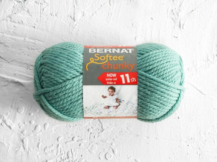 Bernat took the classic baby yarn everyone loves and turned it into a super-bulky delight! Bernat Softee Chunky is baby approved for last-minute gifts that are worked up on the fly. Spun from 100% premium acrylic, this lightweight blend is heavenly soft, so you can rest assured that little bundle of joy will be comfy and content in whatever you choose to create.