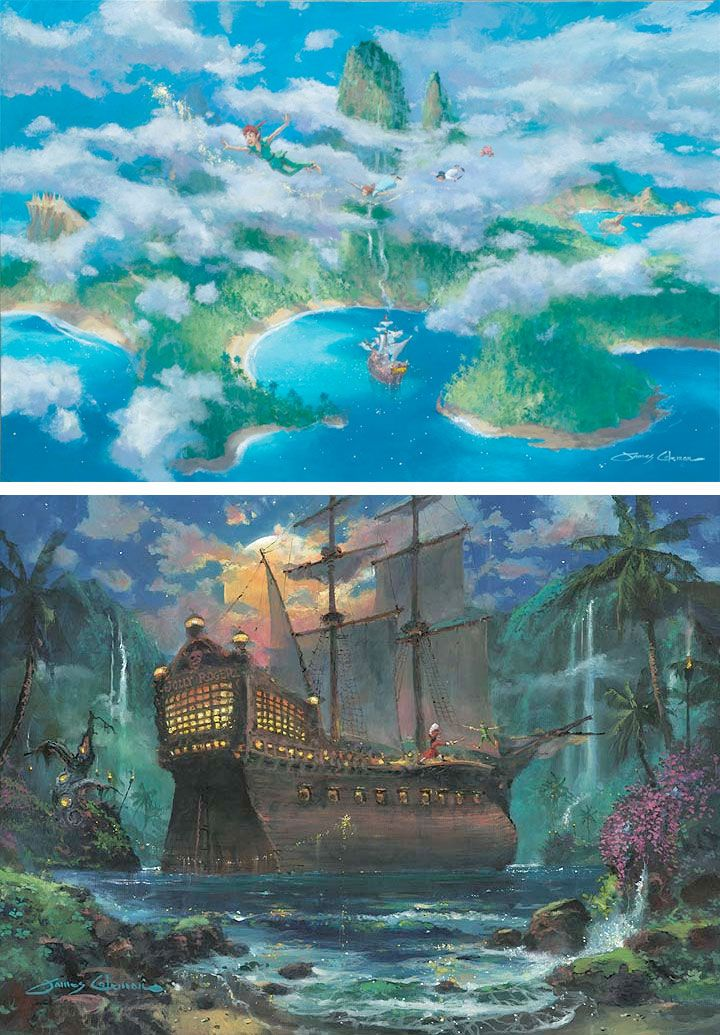 Some Disney Peter Pan fine art.   Brilliant