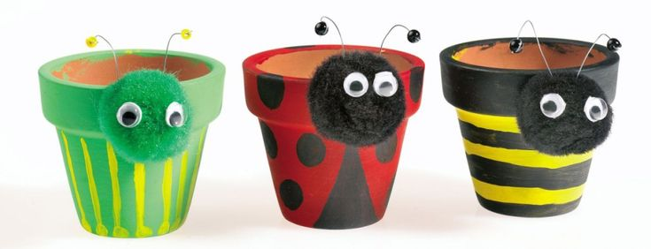 Simple bug-themed plant pot idea for the kids!