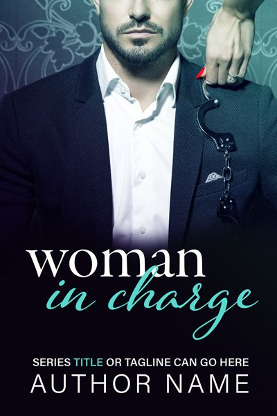 Woman In Charge - Romance Premade Cover by Angela Haddon Book Cover Design. A sharp, contemporary premade cover, with a hint of battle-of-the-sexes, for the alpha billionaire/executive subgenre of romance. #bookcover #bookcovers #premadecover #premadebookcover #indieauthor #indiepub #indiepublishing #selfpub #amwriting #bookmarketing #bookdesign #bookcoverdesign #bookdesigner #bookcoverdesigner #graphicdesigner #sexy #romance #romancecover #contemporaryromance #eroticromance #handcuffs
