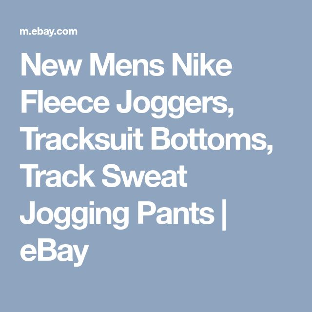 New Mens Nike Fleece Joggers, Tracksuit Bottoms, Track Sweat Jogging Pants | eBay