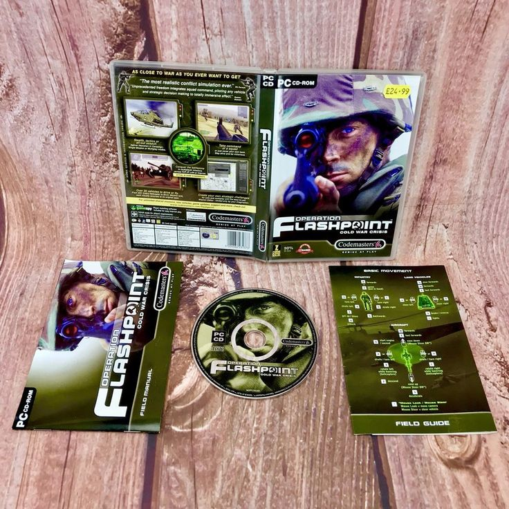 Operation flashpoint cold war crisis Codemasters  PC CD Rom game Shooter gamer