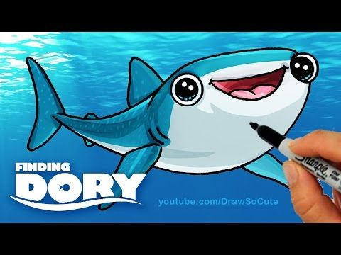 How to Draw Destiny from Finding Dory step by step Cute -Whale Shark - YouTube