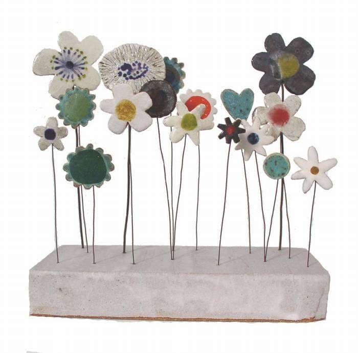 Ceramic Sculptures by Jane Muir ~ 'Garden Meadow'