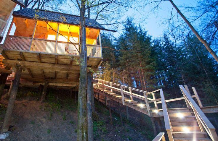 Slapen in boomhutten, oude vliegtuigen, watertorens of in een brugwachterstoren? Hoe gekker hoe beter, zo vinden wij. Daarom gingen wij op zoek naar leuke Top 5's van unieke bestemmingen, te beginnen met de boomhut via @TravelRumors #travel #hotel #boomhut #treehouse #accomodatie #reizen #nature