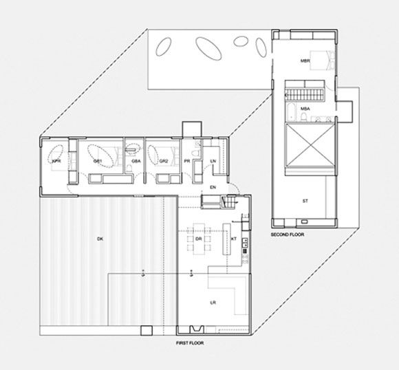 Two Story L Shaped House Plans Design Pinterest