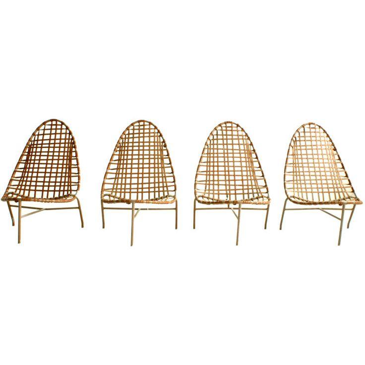 John Caldwell 1957 Brown Jordan Mai Tai outdoor furniture lounge chairs