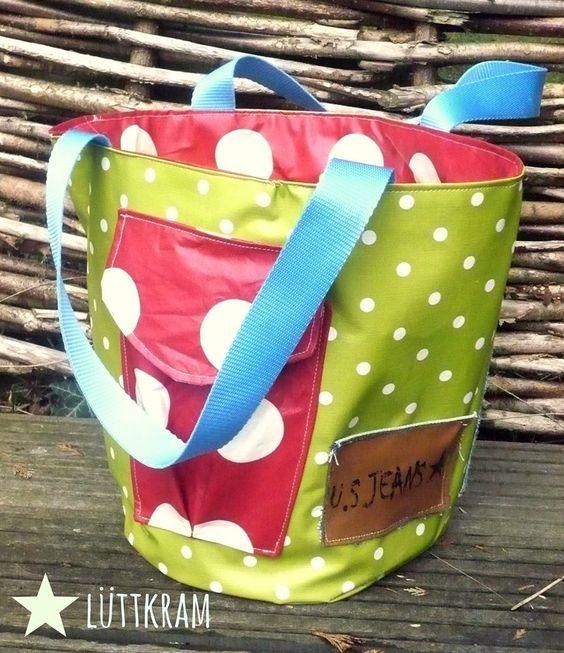 Spielzeugtasche für den Sandkasten / Garten - Schnittmuster von Keko-Kreativ