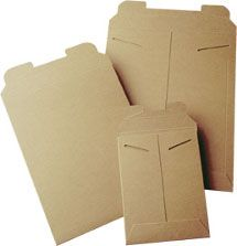 """The Boxery: Kraft Tab Lock Mailers ($82 for 100 ct. 13"""" x 18"""")"""